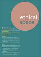 Ethical Space Vol.15 Issue 3/4